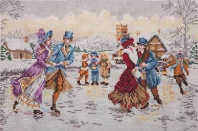 Изображение Рождественские фигуристы (Skaters at Christmas)