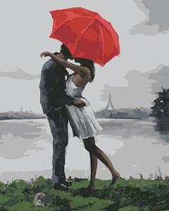 Изображение Поцелуй под красным зонтом