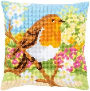 Изображение Зарянка в саду (подушка) (Robin in the garden)