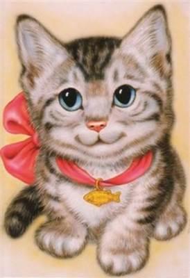 Изображение Кот с бантом