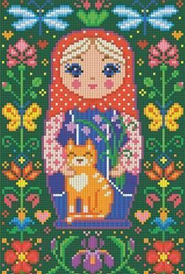 Изображение Матрёшка с котиком