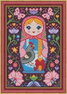Изображение Матрёшка с курочкой