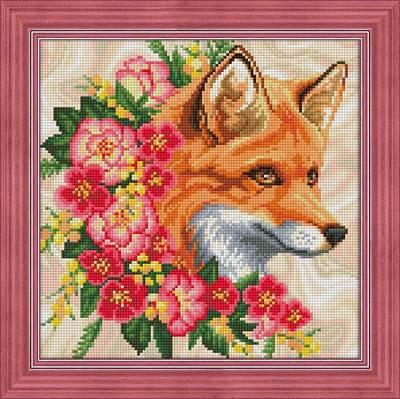 Изображение Лисица в цветах