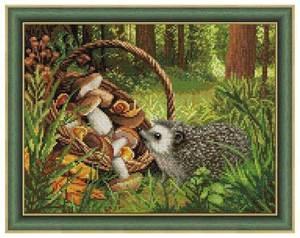 Изображение Ёжик в лесу