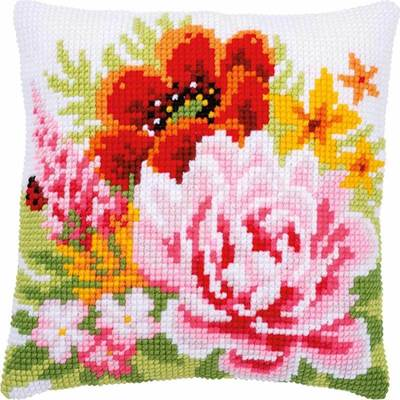 Изображение Разноцветные цветы (подушка) (Colourful flowers)
