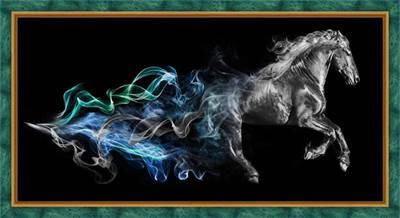 Изображение Конь в дыму