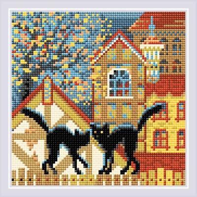 Изображение Город и кошки. Осень