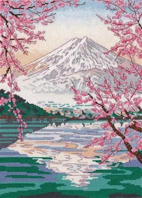 Изображение Фудзияма и озеро Кавагути