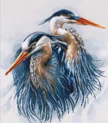 Изображение Больше голубые цапли (Great blue herons)