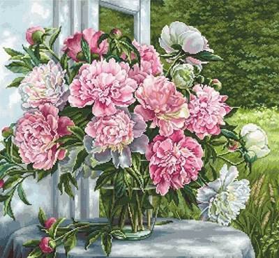 Изображение Пионы у окна