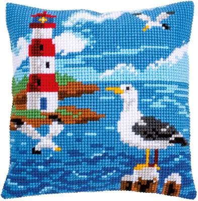 Изображение Маяк и чайки (подушка) (Lighthouse and seagulls)