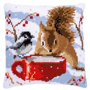 Изображение Белка и синица (подушка) (Squirrel and tit)