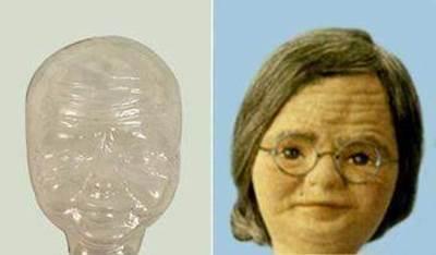 Изображение Основа для лица - кукла Бабушка