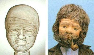 Изображение Основа для лица - кукла Дедушка