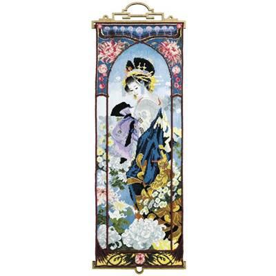 Изображение Гейша с Хризантемами