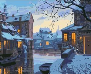 Изображение Вечер в городке у реки