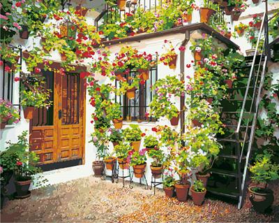 Изображение Стена с цветами