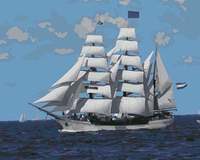 Изображение Парусник в открытом море