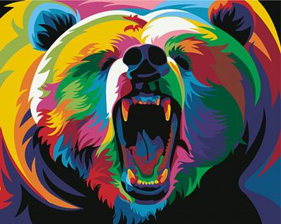 Изображение Радужный медведь