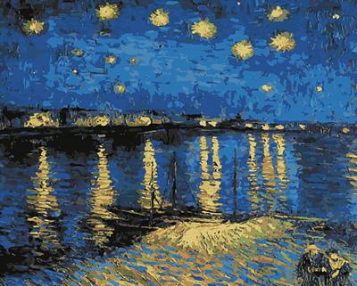 Изображение Звездная ночь над Роной