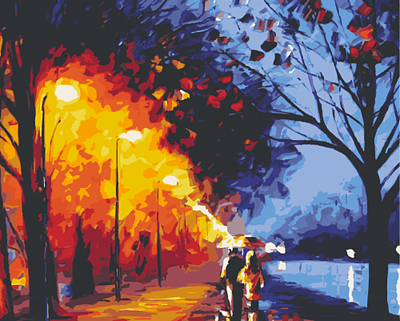 Изображение Прогулка в ночном парке