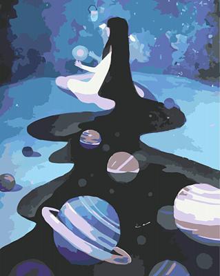 Изображение Девушка космос