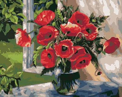 Изображение Маки в вазе