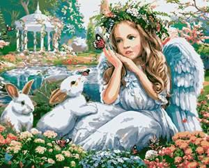 Изображение Ангел с кроликами