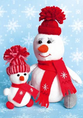 Изображение Снегомама и снегодочка