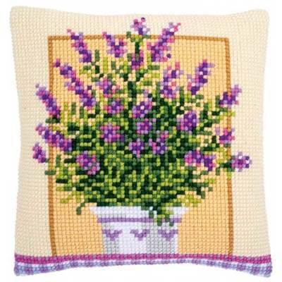 Изображение Лаванда в горшке (подушка) (Lavender in pot)