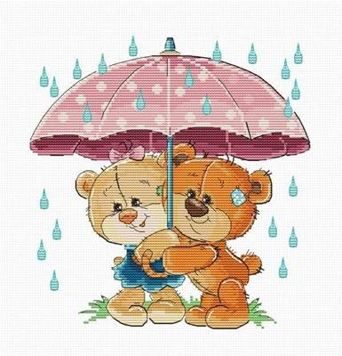 Изображение Медвежата под зонтиком
