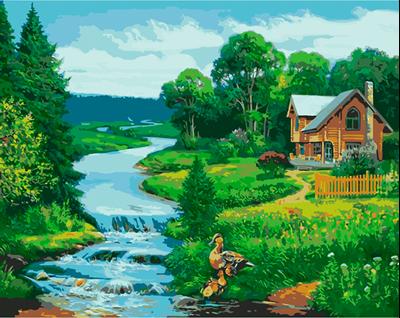 Изображение Охотничий дом у реки