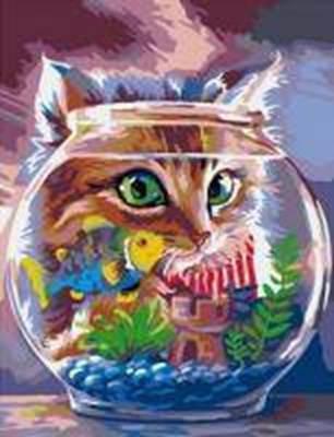 Изображение Кот с аквариумом