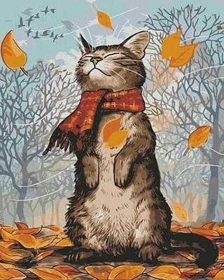Изображение Осенний котик