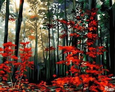 Изображение Утро в осеннем лесу