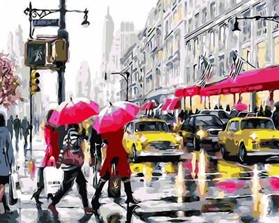 Изображение На светофоре. Нью-Йорк