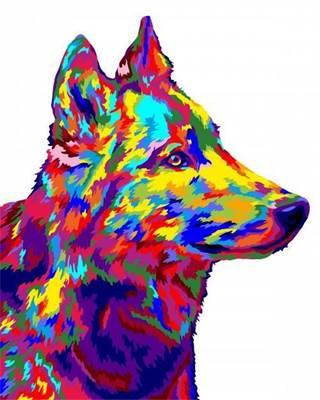 Изображение Волк поп-арт