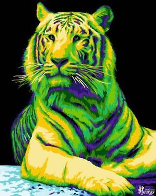 Изображение Неоновый тигр
