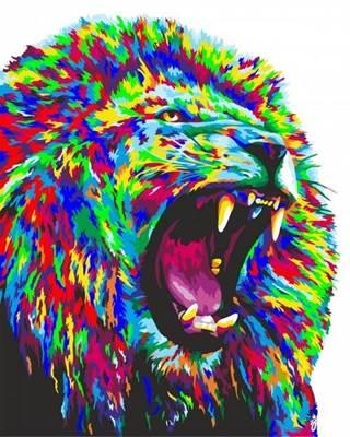 Изображение Неоновый лев