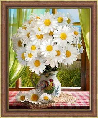 Изображение Ромашки у окна