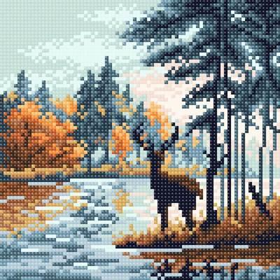 Изображение Олень в лесу