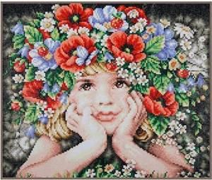 Изображение Девочка с цветами