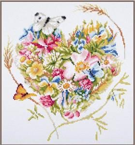 Изображение Сердце из цветов