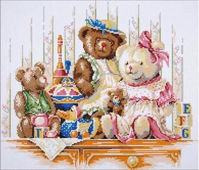 Изображение Медвежата и игрушки