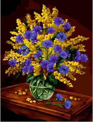 Изображение Мимоза и васильки