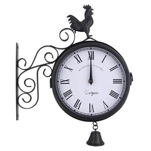 Изображение Уличные часы на кронштейне двухсторонние с колокольчиком