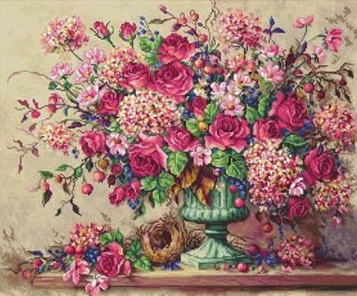 Изображение Букет розовых цветов (Collete's Collection)