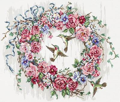 Изображение Венок и колибри (Hummingbird Wreath)