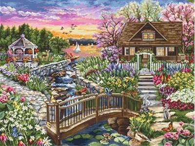 Изображение Цветущая весна на озере