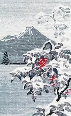 Изображение Зимний пейзаж с рябиной